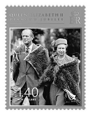 Image of royal couple attending a national Maori reception held in their honour in Hastings is to feature on a new stamp.