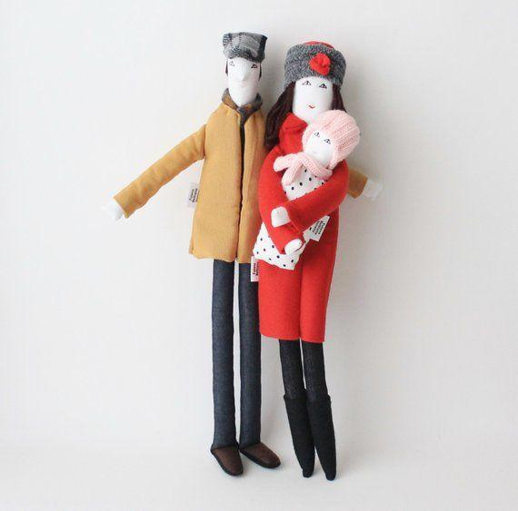 Personalized family fabric dolls, custom family po