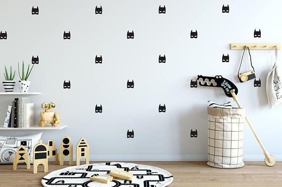 Batman Mask Wall Decal Choose Your Color Batman Wall Decals