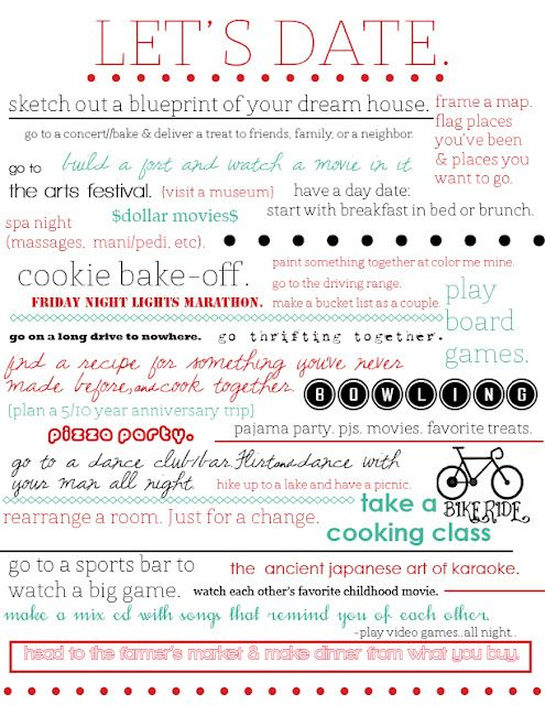 Date Night Ideas | Love and Marriage | Pinterest | Relationships ...