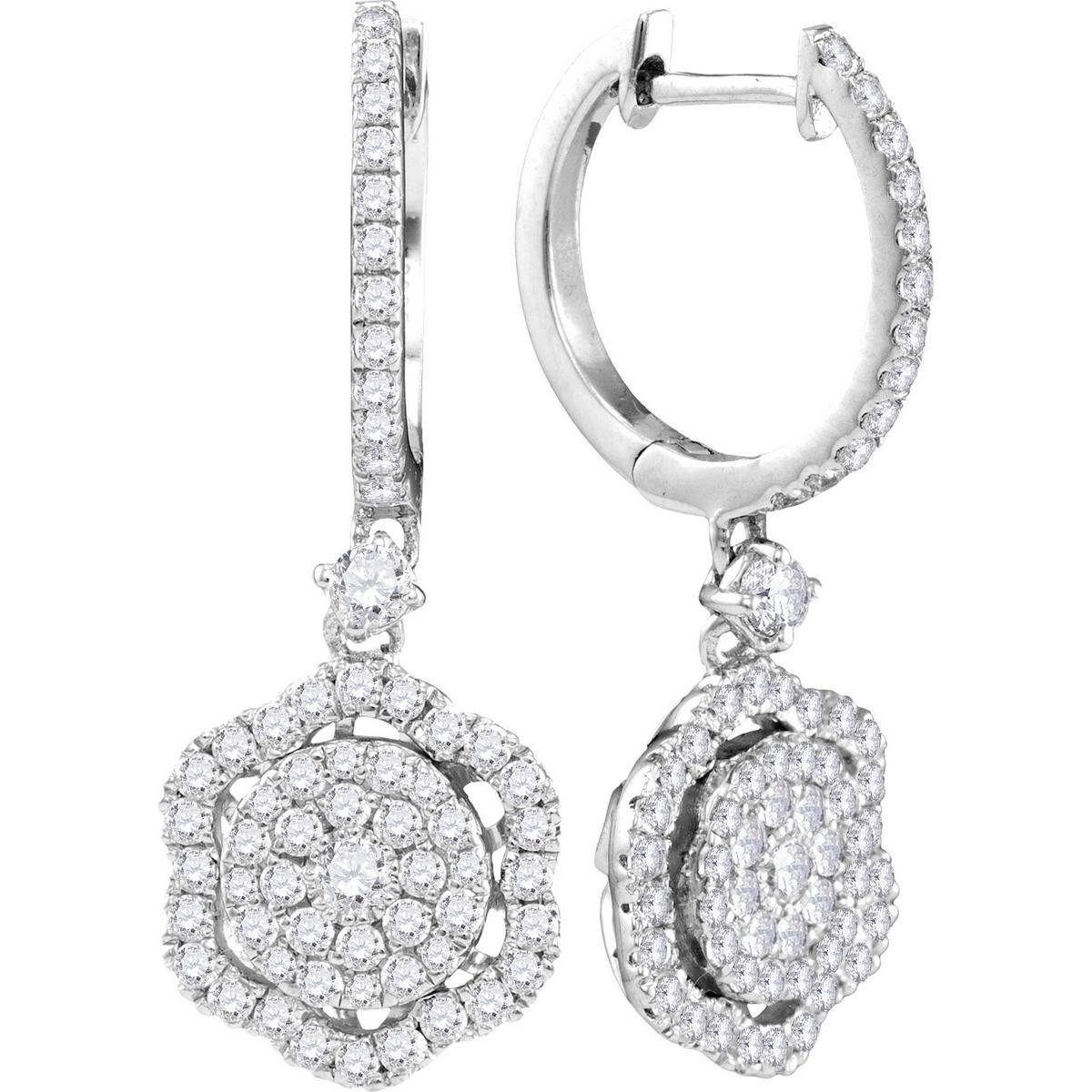 1 CTW-Diamond FASHION EARRING