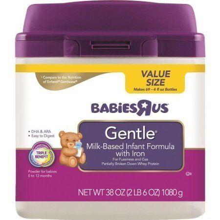 Babies R Us Gentle Infant Formula In Mess Less Smartub 38oz Baby Formula Babies R Us Infant