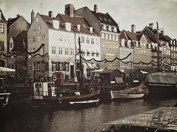 December In Nyhavn Print By Dorothy Berry-lound