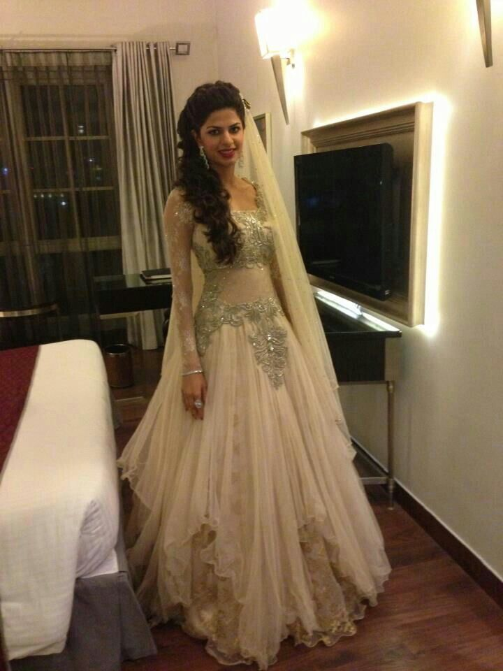 Indian wedding dress in white