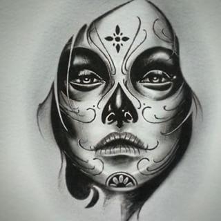 Girl Katrina Skull Girl Tattoo Mexican Art Tattoos Sugar Skull