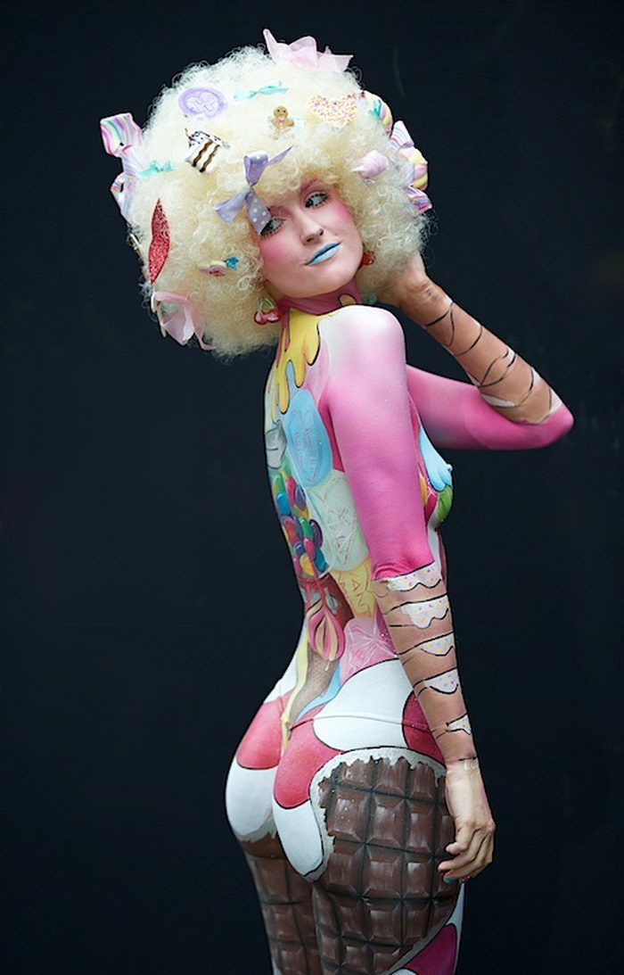 Body Painted Modelsaround The World World Body Painting Festival Photos Bodi Art Iskusstvo Illyuzii Konceptualnaya Fotografiya
