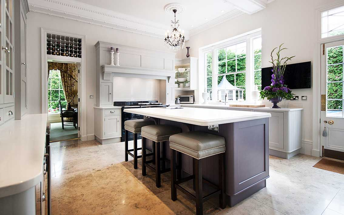 Beautiful traditional kitchen uses Frosty Carrina 5141 ...