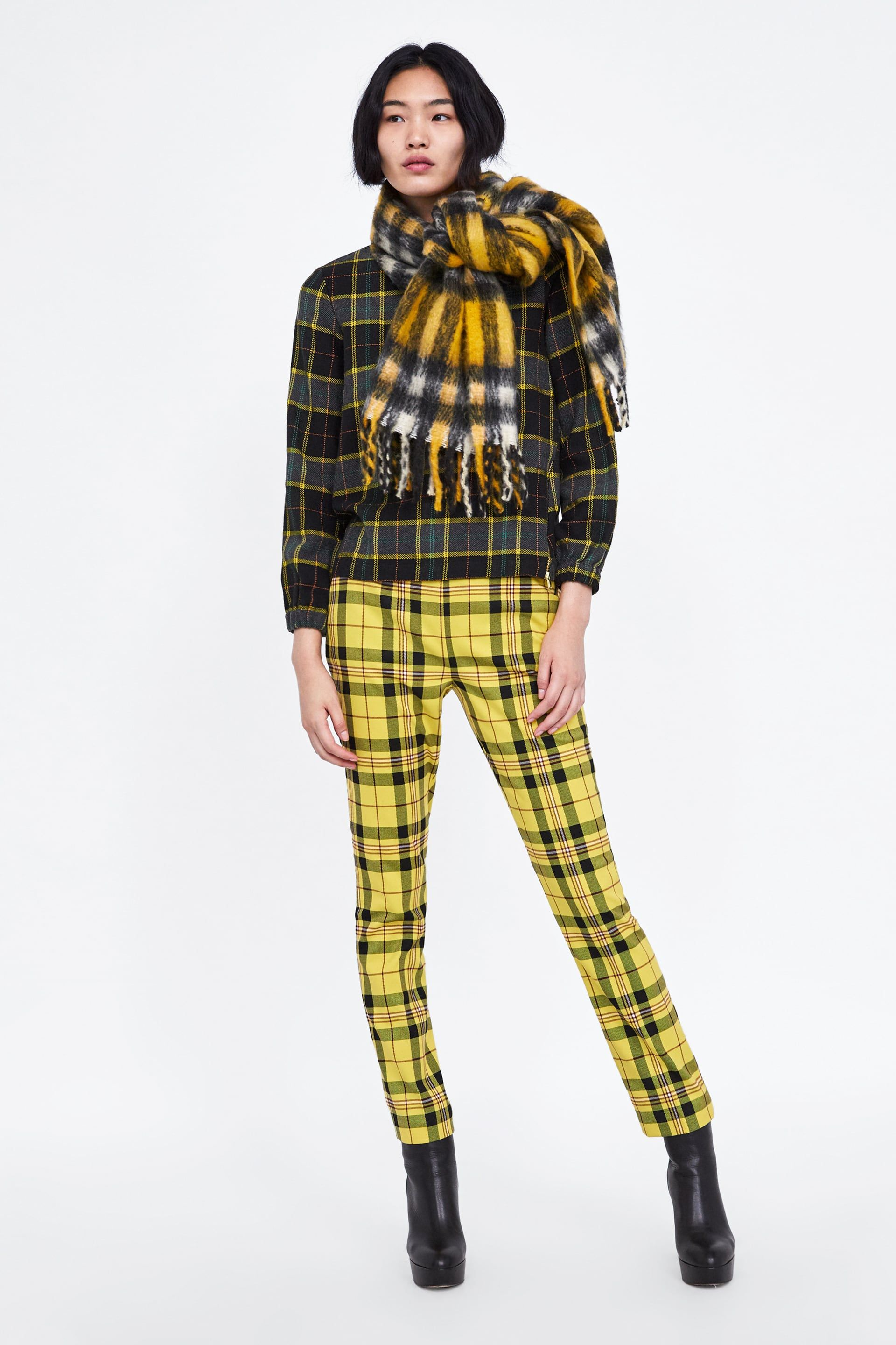 006cffe1 Image 1 of PLAID PANTS from Zara | Model shoots to come in 2019 ...