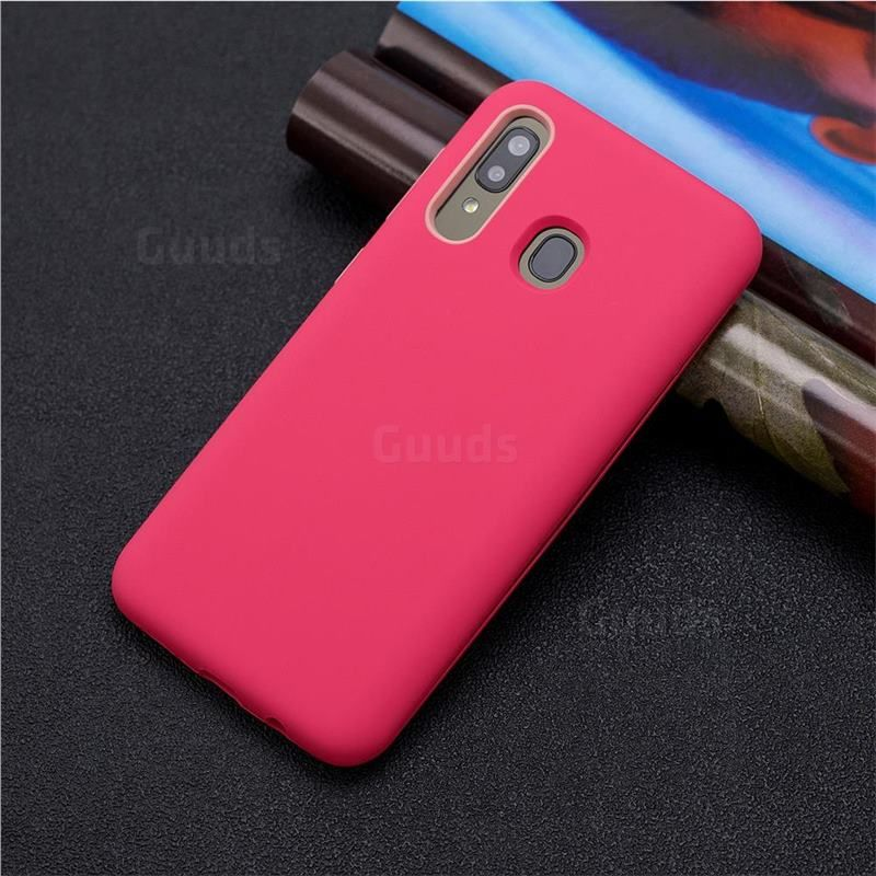 Matte Pc Silicone Shockproof Phone Back Cover Case For Samsung Galaxy A40 Red Galaxy A40 Cases Guuds Samsung Galaxy Samsung Stylish Phone Case
