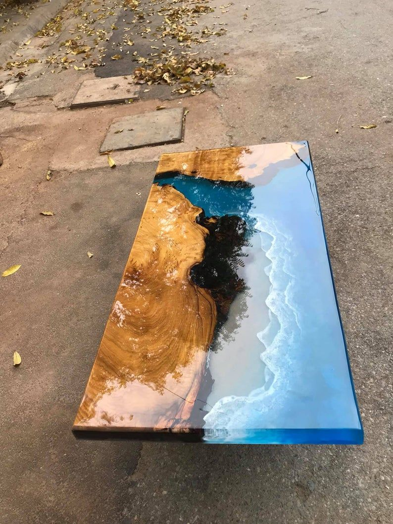 Coffee table Epoxy table river table ocean table h