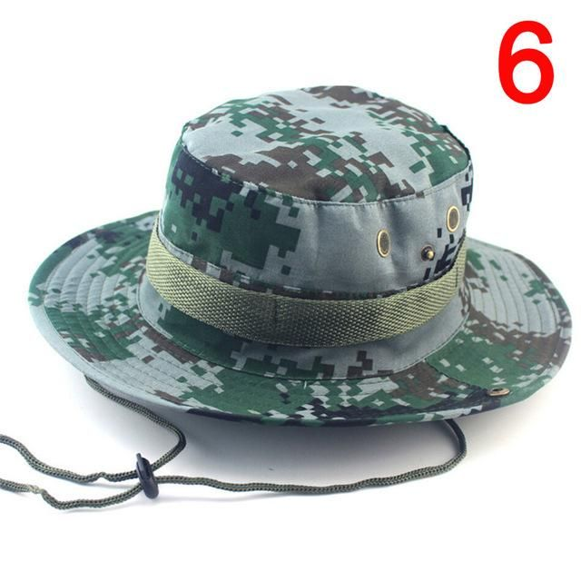 Camouflage Bucket Hat With String  cfcaf33c555