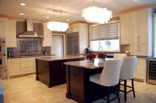 küche mit kochinsel symmetrische kücheninseln und schöne - küche mit kochinsel