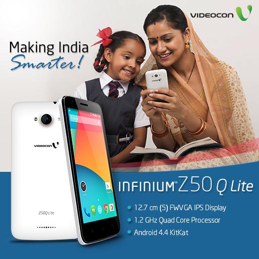 #Videocon Infinium Z50Q Lite, Making #India Smarter! Know more here - http://www.videoconmobiles.com/z50q-lite