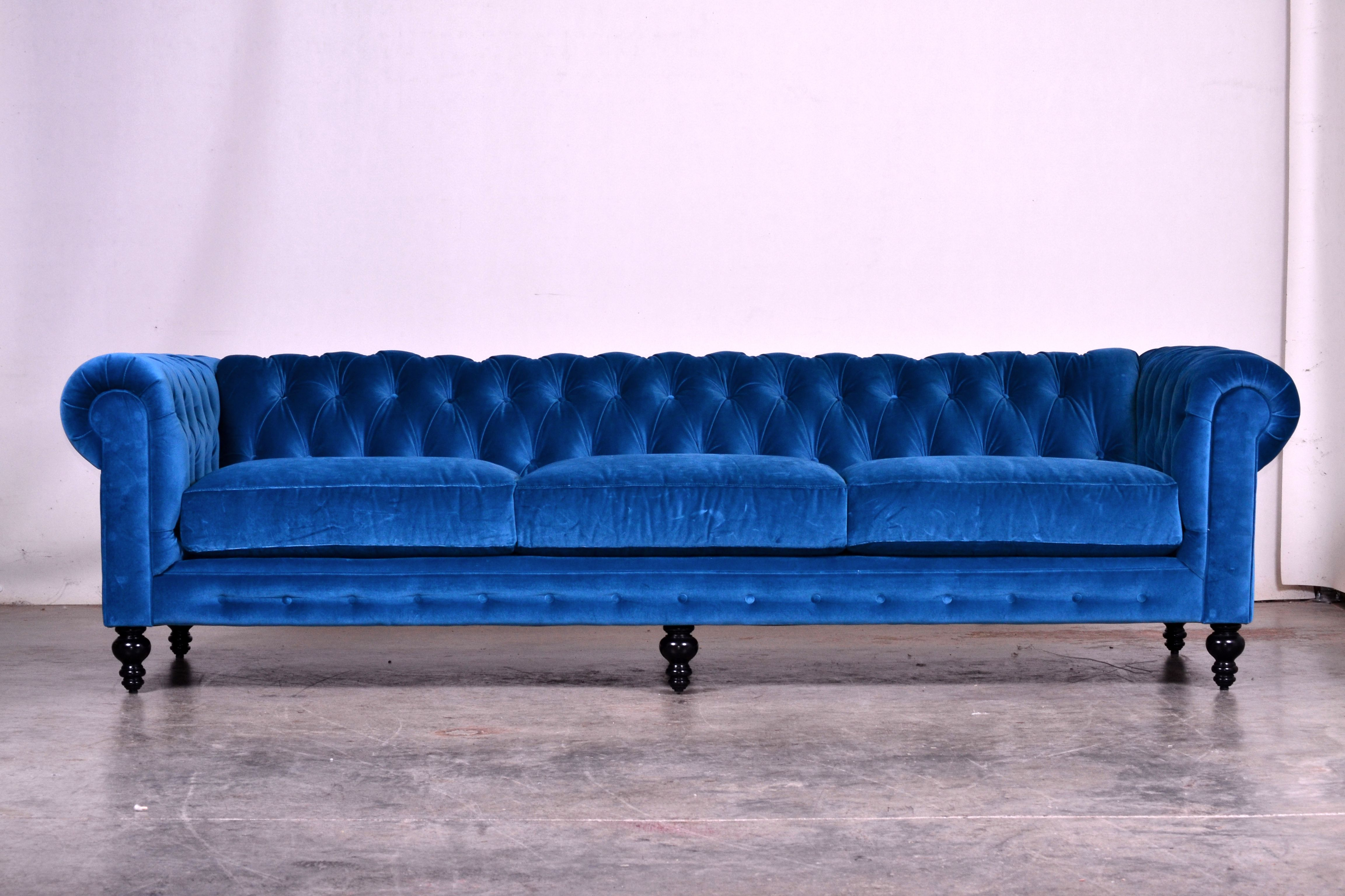 The Comfortable Couch Company (CoCoCo) Como Cyan Chesterfield   The Blue Is  Perfect.