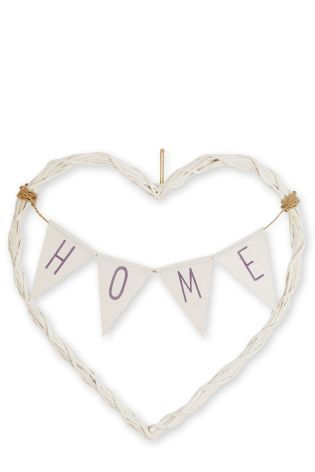 Buy Wicker Bunting Heart from the Next UK online shop £18