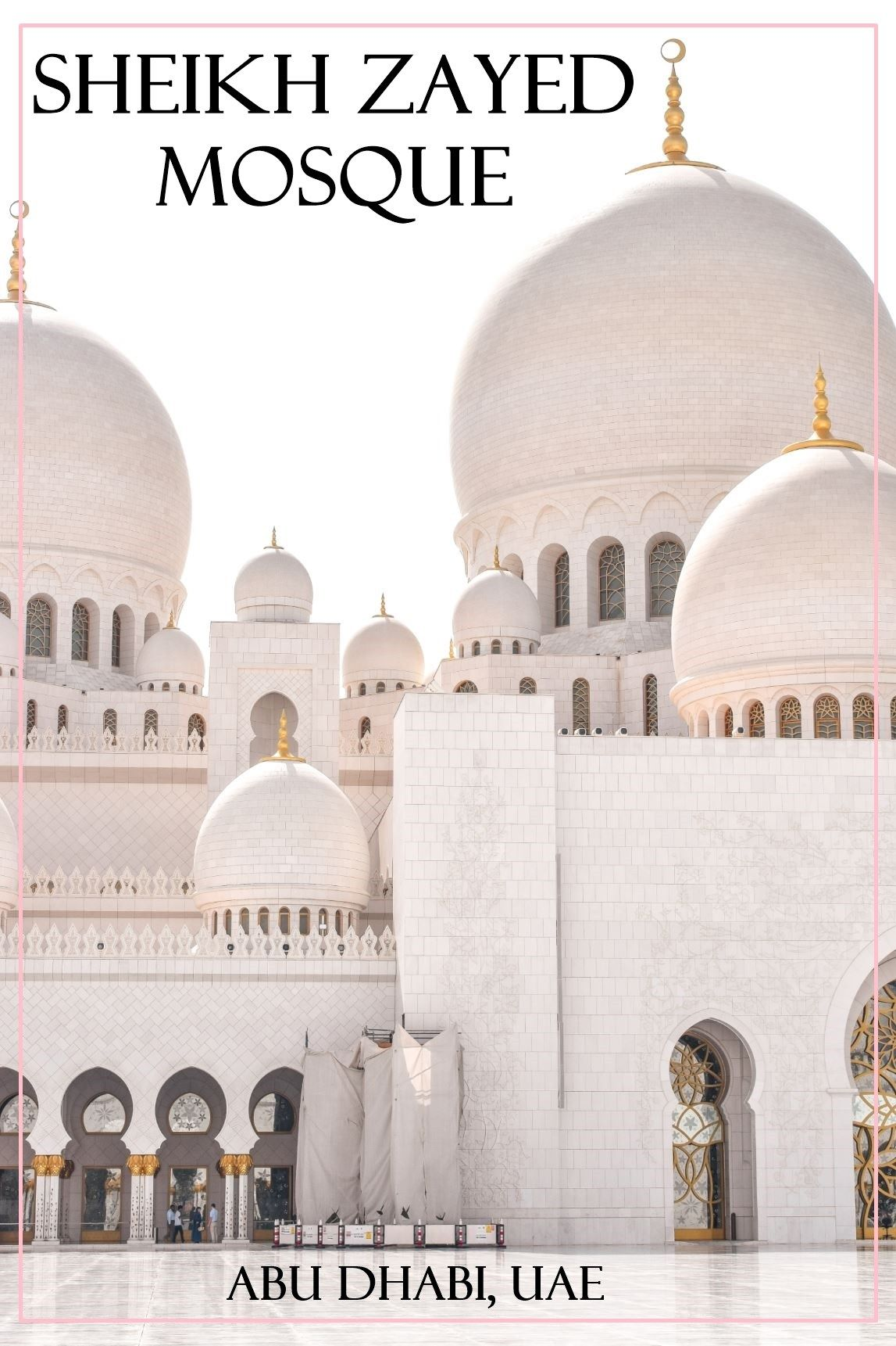 Visiting The Grand Mosque Sheikh Zayed Of Abu Dhabi Middle