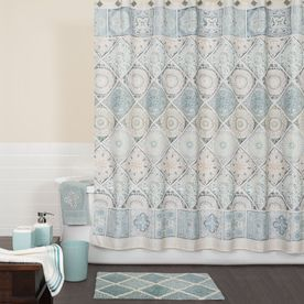 Saturday Knight Limited Modena Polyester Blue Patterned Shower