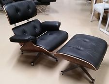 Mid Century Charles Ray Eames Lounge Chair With 0ttoman Rosewood