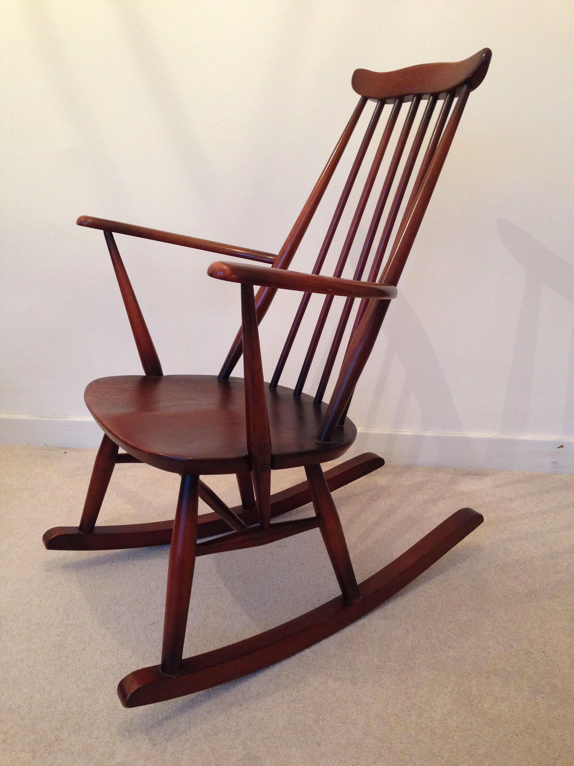 in mid rocking sale for century timber modern made chair