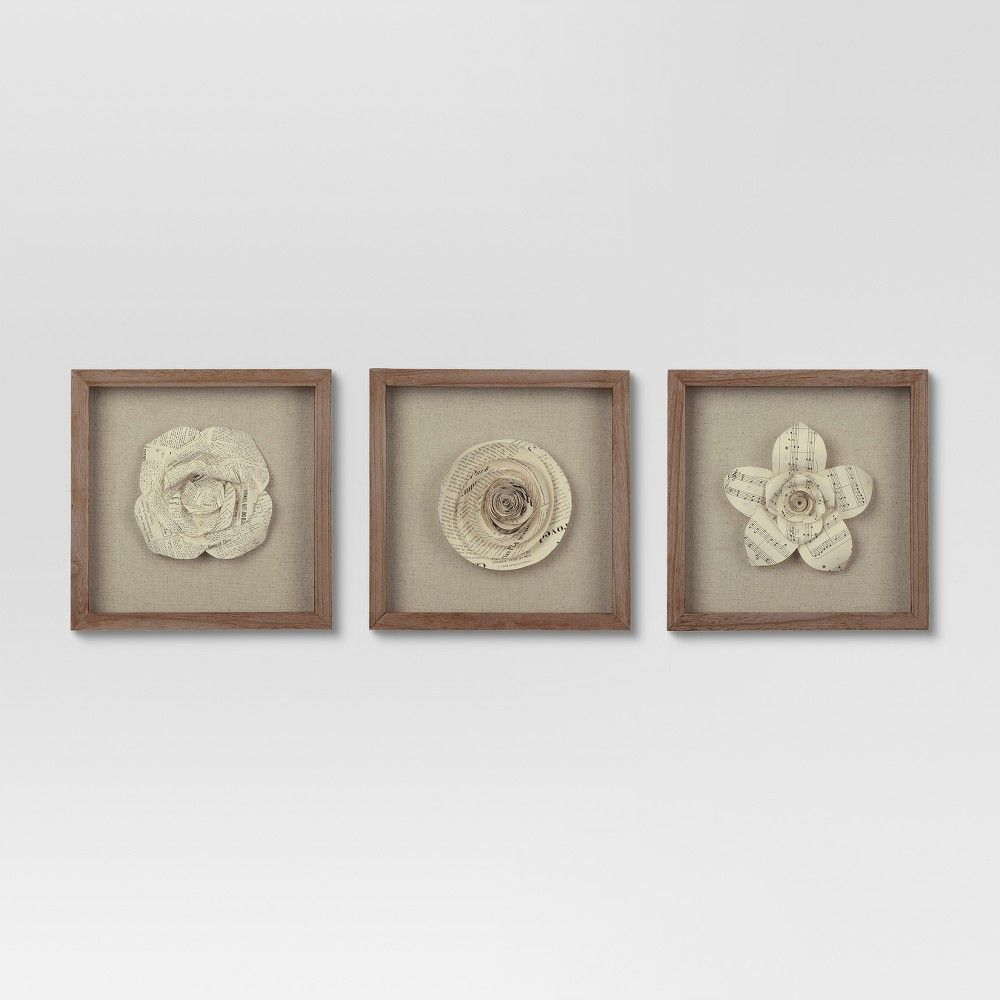 e1347d0f31b Whether you love books flowers or chic wall art youll love adding the Framed  Paper Flowers
