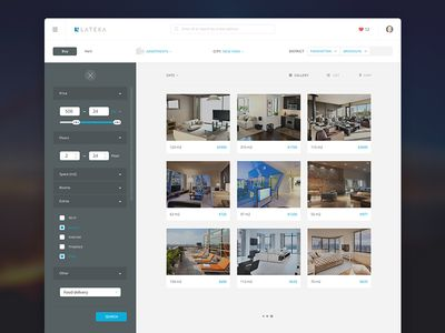 Real Estate agency - apartment filters