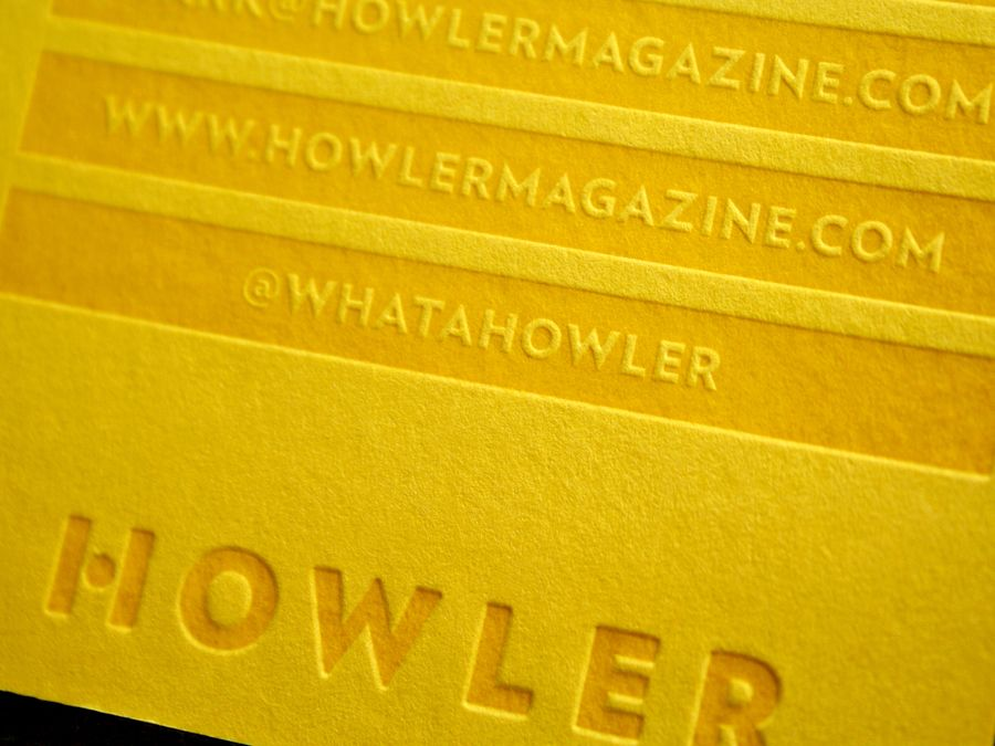 Howler Magazine Business Cards | Design: Priest and Grace | Client ...