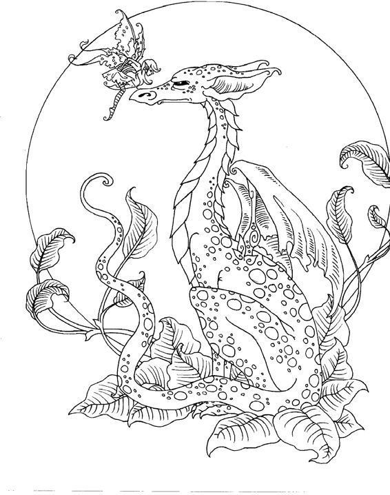 printable fantasy creatures coloring pages | Image result for free fantasy coloring pages for grown ups ...