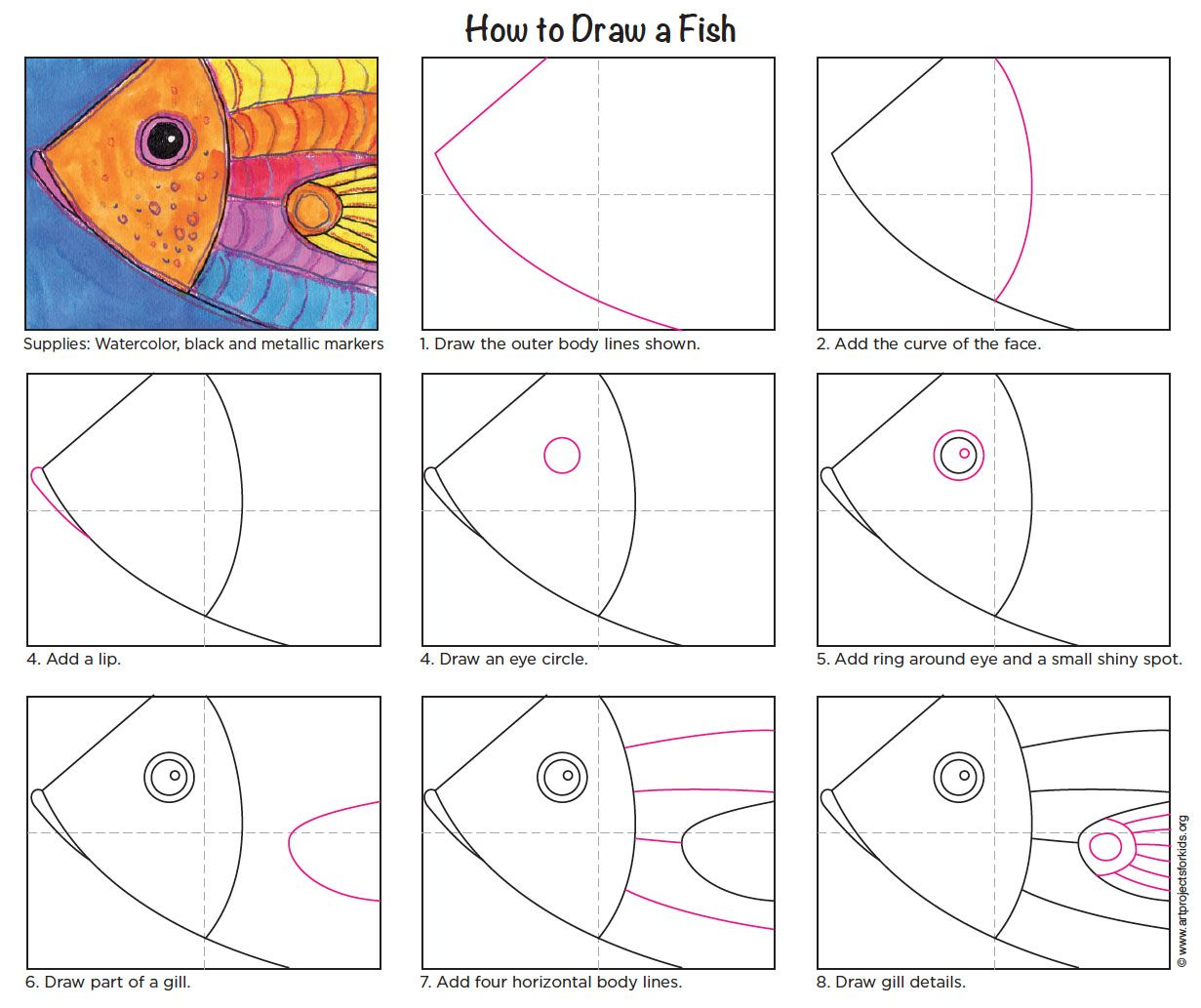 Draw A Fish Head With Images
