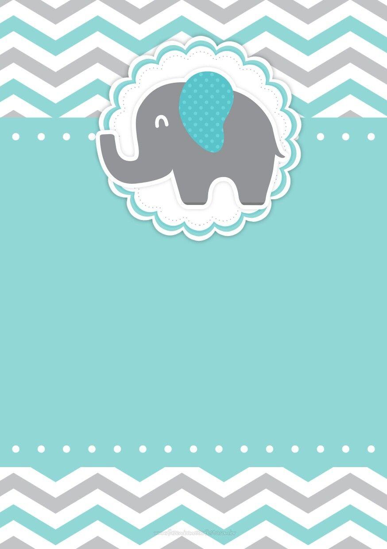 Decoracion Baby Shower Elefantes ~ Invitaci�n babyshower baby shower quot elefante