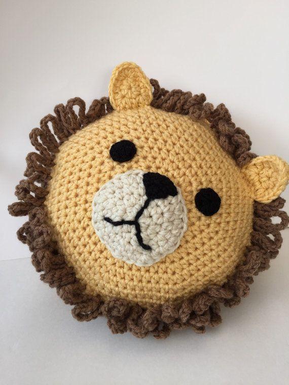 Crochet Lion Pillow Crochet Lion Lions And Pillows