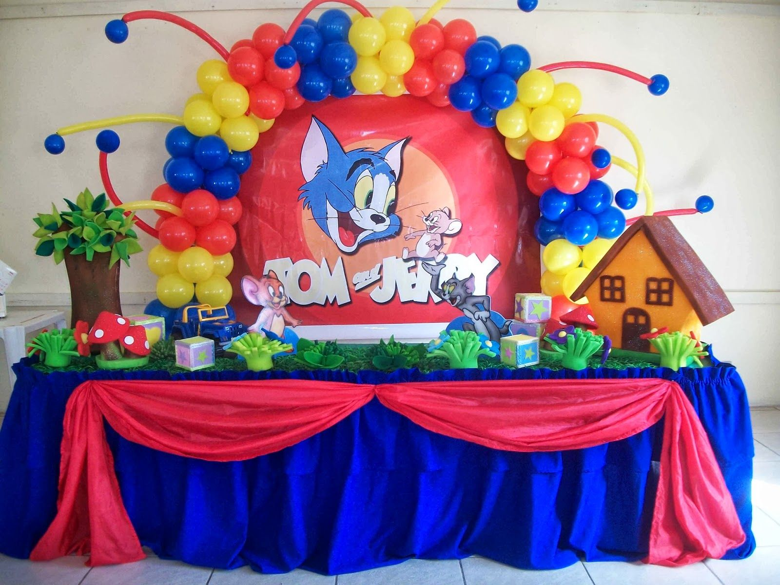 Tom Jerry Theme 1 Star Birthday Party Themes Pinterest