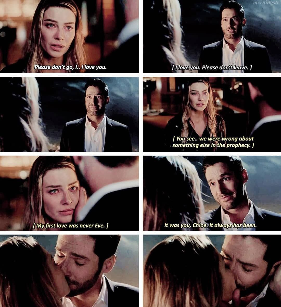 Lauren German Tom Ellis En Instagram Omg This Scene Because You Left Lucifer When Finally The Detective Declared Her Love For Lucifer He Jus I 2020 Serier