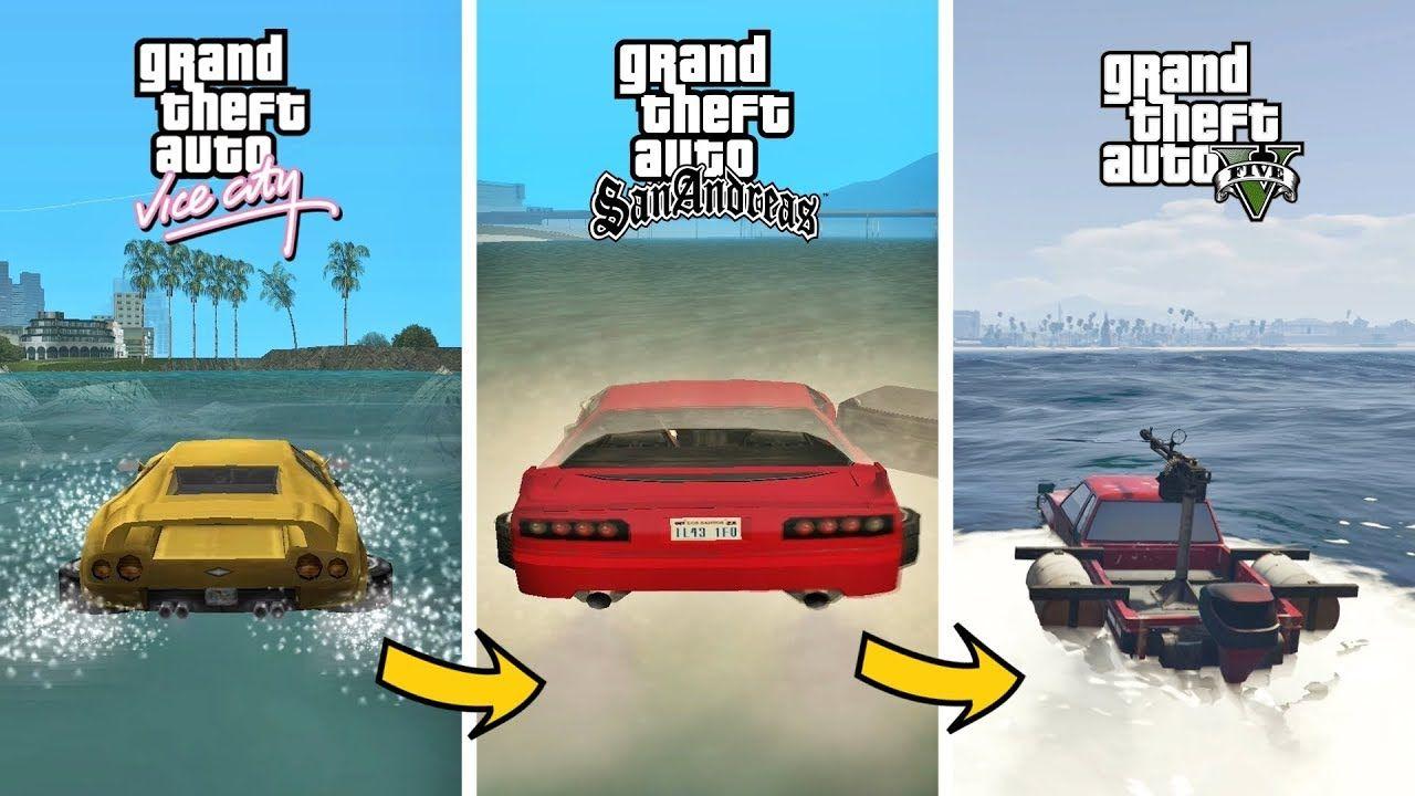 Swimming cars in gta games gta games evolution in 2020