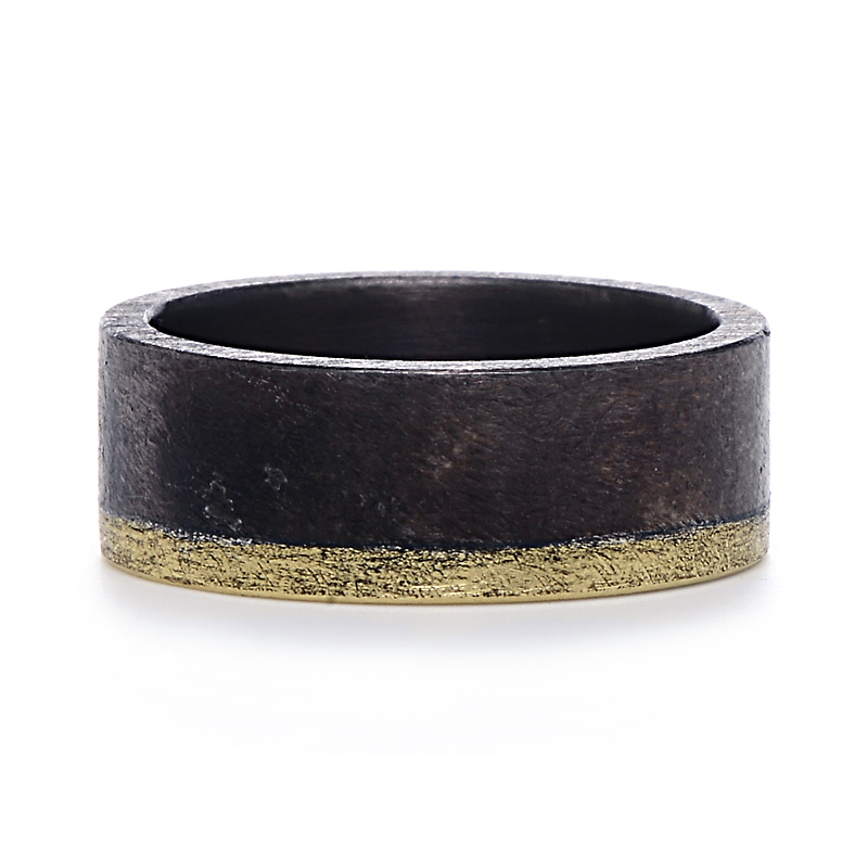 Todd Reed Palladium and Yellow Gold Mens Band | Greenwich Jewelers
