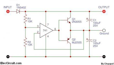 power supply splitter circuit using op amp construction rh pinterest com