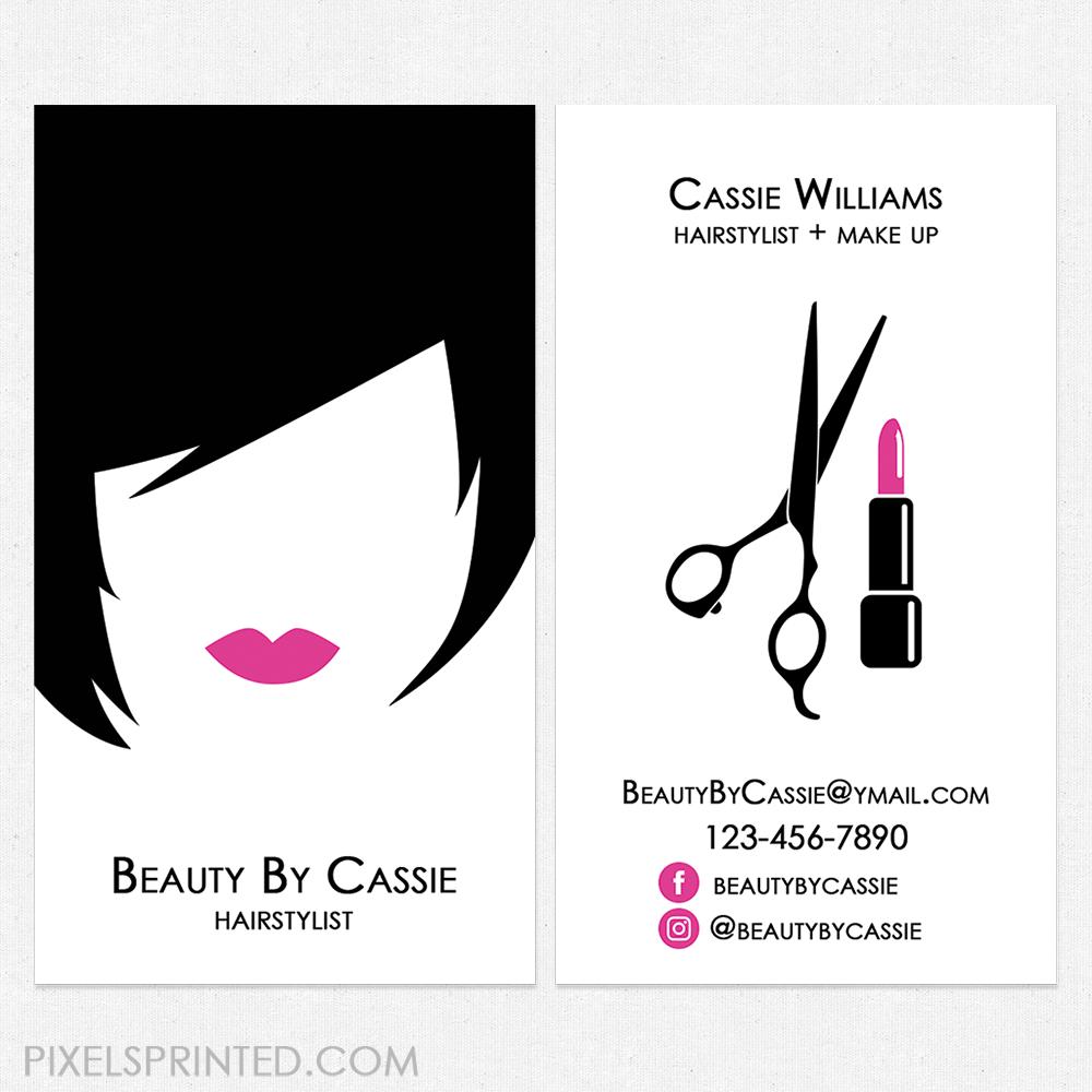 Hair Salon Cards Unique Hairstylist Business Modern