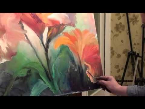 Free Full Video Lilies Painter Igor Sakharov Painting Rose