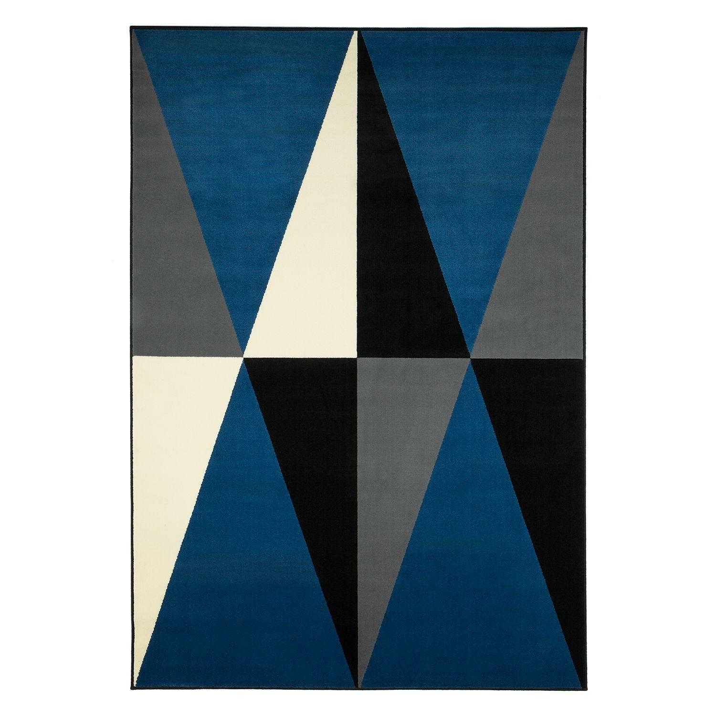 Teppich Spiky Kunstfaser Brilliantblau Schwarz 140 X 200 Cm Fredriks Online Kaufen Bei Woonio Teppich Kurzflor Teppiche Teppich Online Kaufen