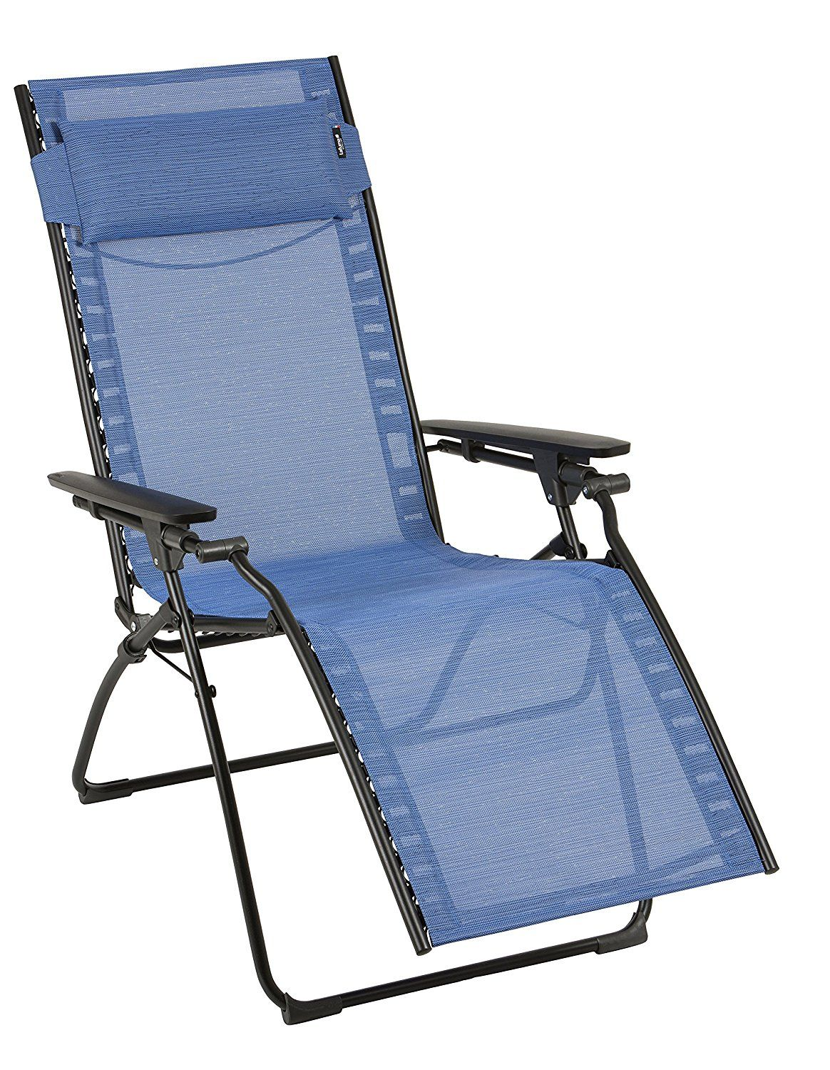 Adjustable Patio Rattan Folding Recliner Lounge Chair