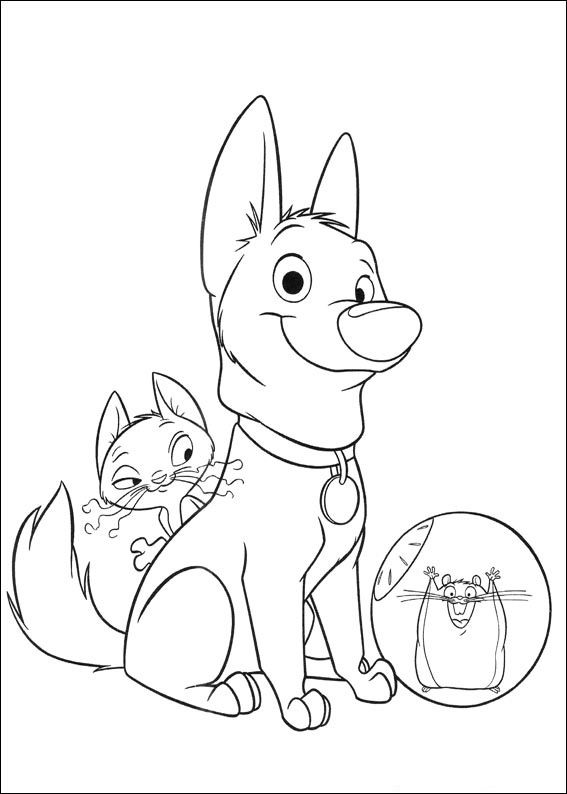 print this picture of bolt to colour in!  coloring pages