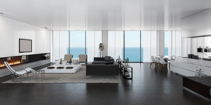 minimalist penthouse Things For My New Place Pinterest - dachwohnung interieur penthouse