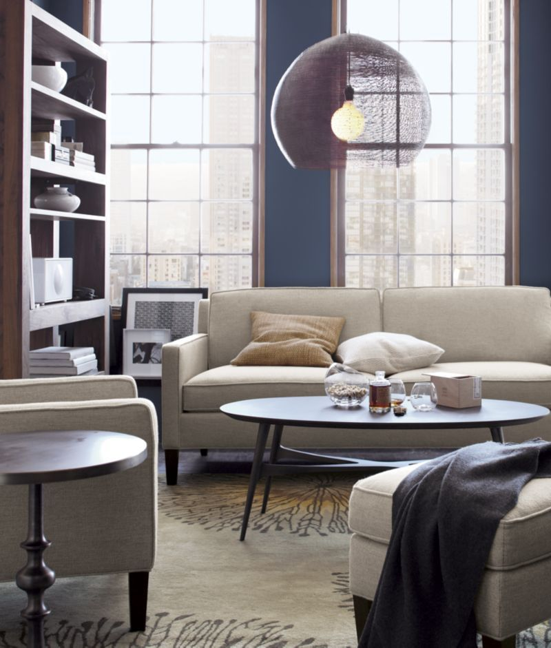 Vaughn Apartment Sofa Crate And Barrel Sofas For Small Spaces