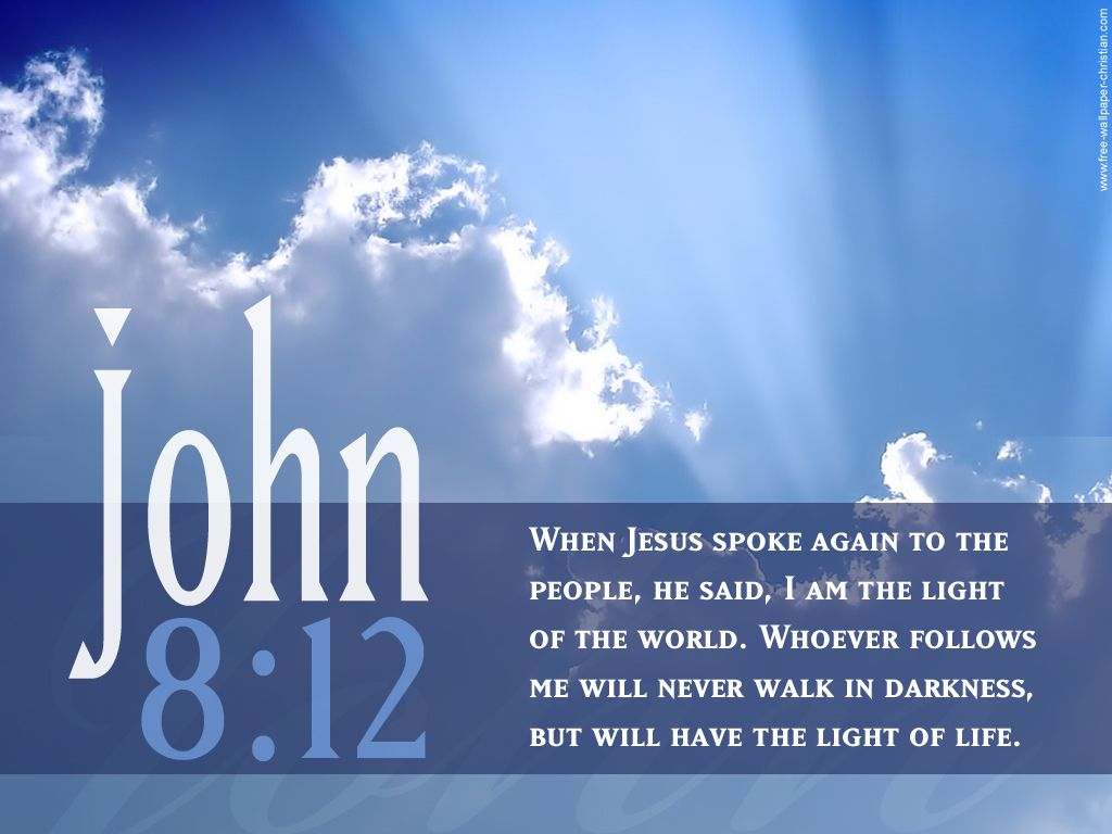 Scripture Art John 8 12 Scripture Sky Picture HD Wallpaper