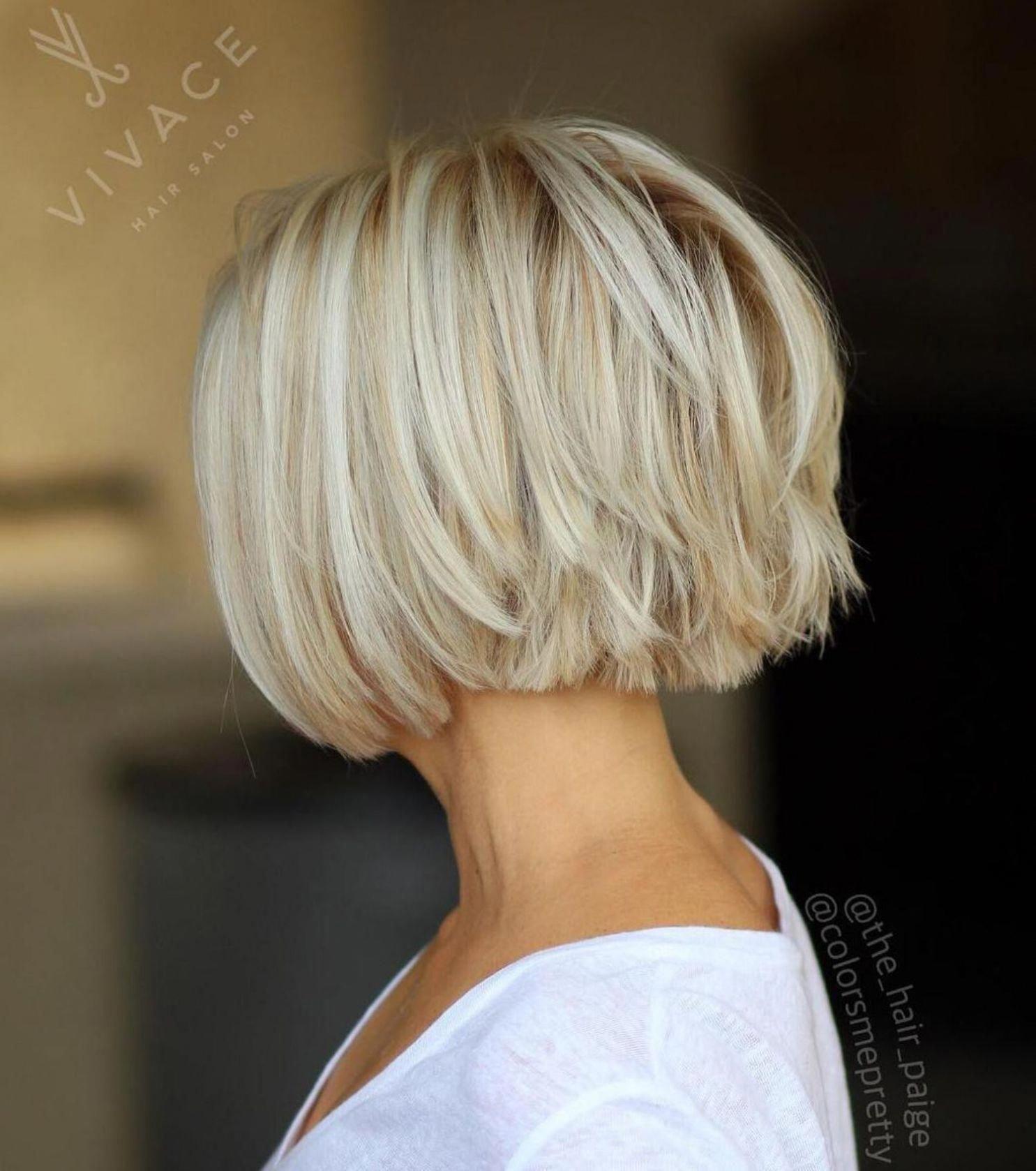 59 Choppy Piece Y Blonde Bob Bobhairstylesforfinehair Mediumbob In 2020 Short Thin Hair Hair Styles Haircuts For Fine Hair