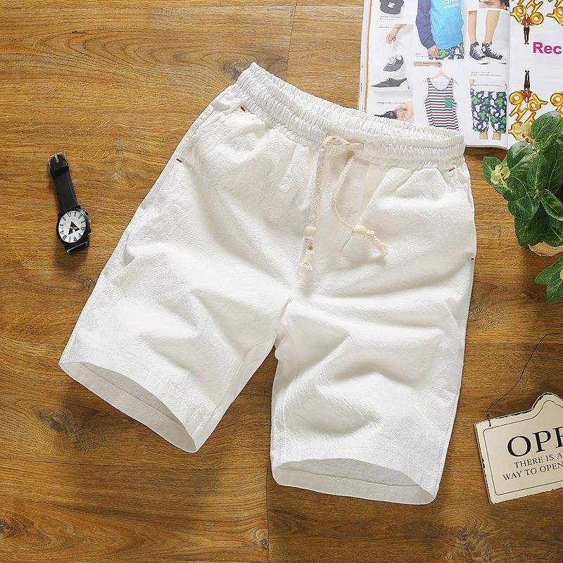 Male Sleeve Solid Man Leisure Pants Summer Men Short Casual Color w86xn1