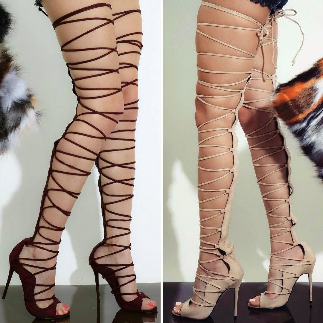 c5cd9e8e77cb Lace Up Gladiator Heels – Nude
