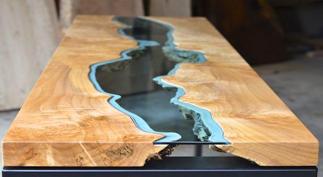 Home Greg Klassen Furniture Reclaimed Wood Table Beautiful Wood Resin Table