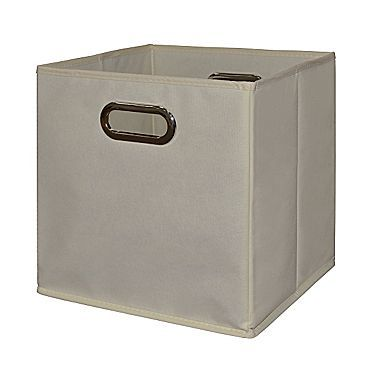 Niche 12 X 12 Inch Tote Bin Set Of 2 Fabric Storage Bins Storage Bins Collapsible Storage Bins