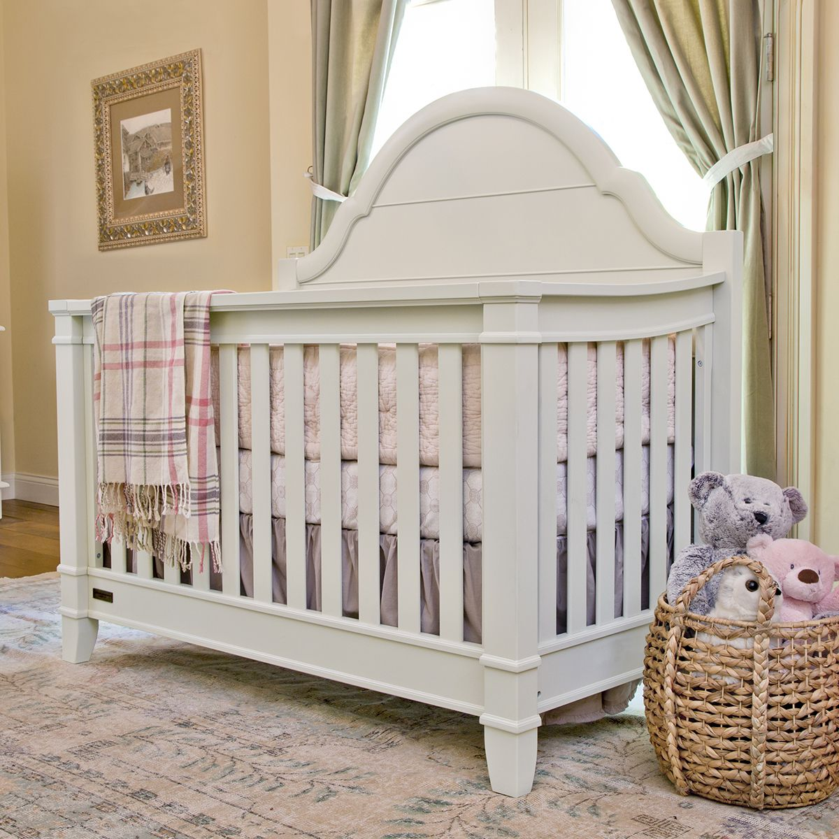 million dollar baby sullivan 4in1 convertible crib in dove white - White Baby Crib