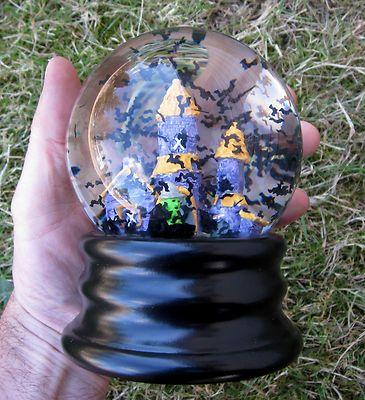 Halloween Snow Globe Nordstroms Snow Dome Spooky Witch And Castle Black Bats Ebay Snow Globes Diy Snow Globe Snow